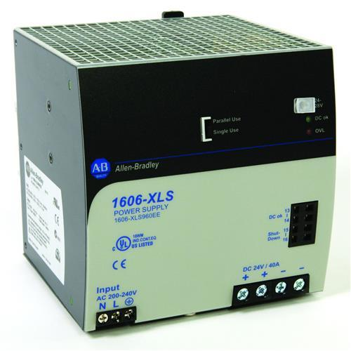 POWER SUPPLY XLS 24VDC, 40A, 1PH, 200..2 product photo Front View L