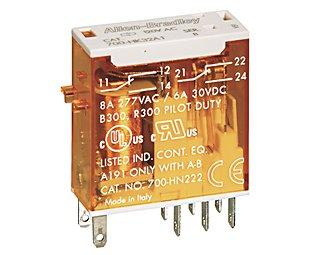 SLIM LINE RELAY 1C/O 10A (240VAC) product photo Front View L