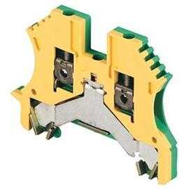 GROUND TERMINAL BLOCK 2.5MM GREEN/YELLOW product photo