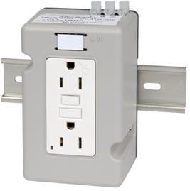 15 A DIN RAIL MOUNTING DUPLEX RECEPTACLE product photo