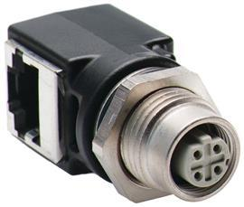 ETHERNET CONNECTOR, M12D TO RJ45 product photo